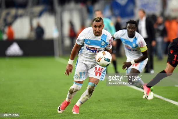 Dimitri Payet of Marseille during the Ligue 1 match between Olympique de Marseille and OGC Nice at Stade Velodrome on May 7 2017 in Marseille France