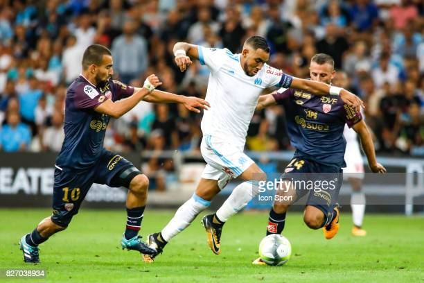 Dimitri Payet of Marseille during the Ligue 1 match between Olympique Marseille and Dijon FCO at Stade Velodrome on August 6 2017 in Marseille