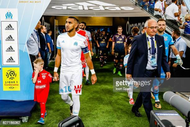 Dimitri Payet of Marseille during the Ligue 1 match between Olympique Marseille vs Dijon FCO at Stade Velodrome on August 6 2017 in Marseille France...
