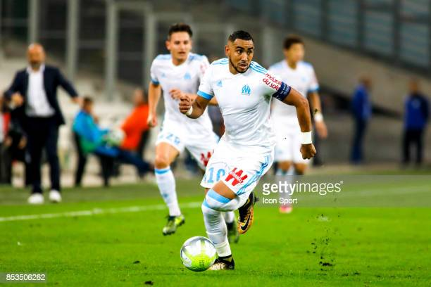 Dimitri Payet of Marseille during the Ligue 1 match between Olympique Marseille and Toulouse at Stade Velodrome on September 24 2017 in Marseille...