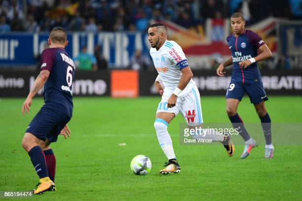 Dimitri Payet of Marseille during the Ligue 1 match between Olympique Marseille and Paris Saint Germain at Stade Velodrome on October 22 2017 in...