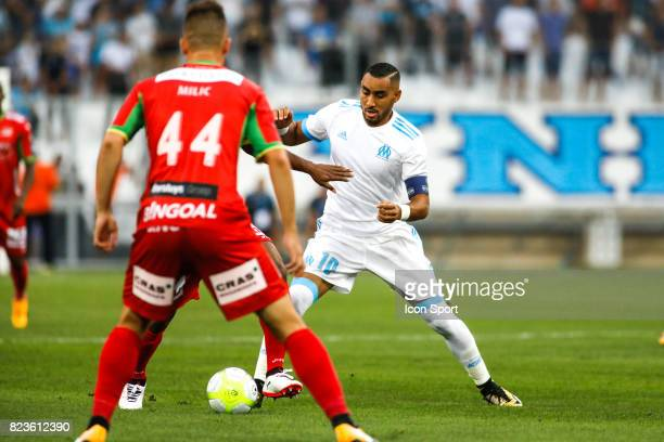 Dimitri Payet of Marseille during the UEFA Europa League qualifying match between Marseille and Ostende at Stade Velodrome on July 27 2017 in...