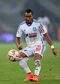 Dimitri Payet of Marseille in action during the French Ligue 1 match between Olympique de Marseille and OGC Nice at Stade Velodrome on August 29 2014...