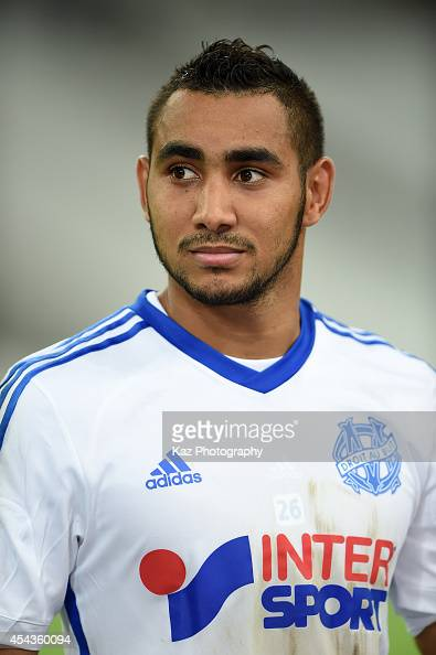 Dimitri Payet of Marseille looks on prior to the French Ligue 1 match between Olympique de Marseille and OGC Nice at Stade Velodrome on August 29...
