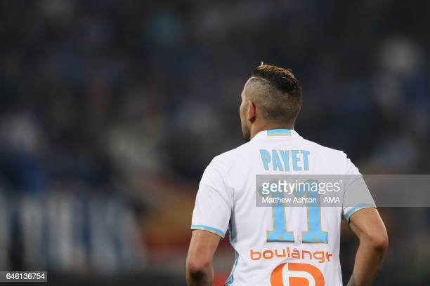Dimitri Payet of Olympique de Marseille during the French Ligue 1 match Marseille and Paris Saint Germain at Stade Velodrome on February 26 2017 in...