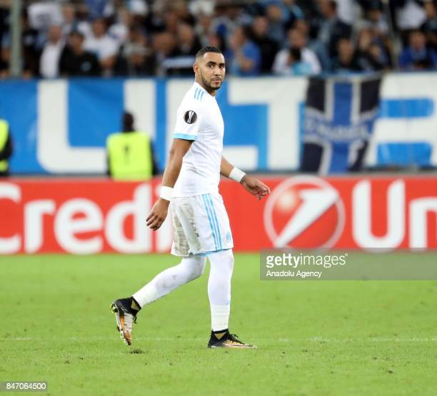 Dimitri Payet of Olympique de Marseille in action during the UEFA Europa League Group I match between Olympique de Marseille and Atiker Konyaspor at...