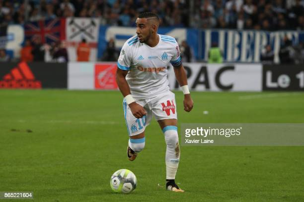 Dimitri Payet of Olympique Marseille in action during the Ligue 1cmatch between Olympique Marseille and Paris Saint Germain at Orange Velodrome on...