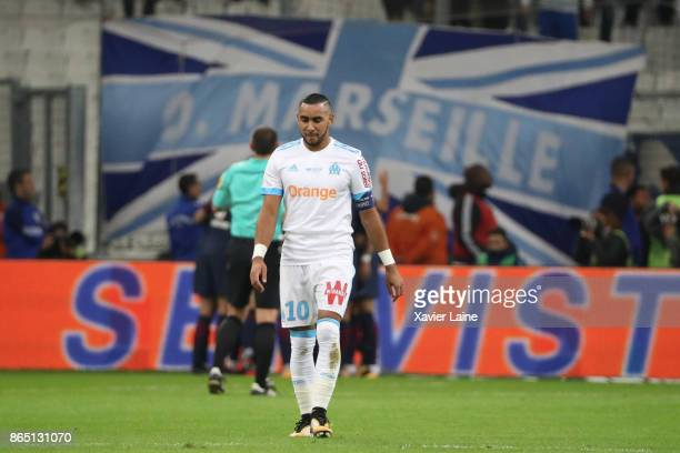 Dimitri Payet of Olympique Marseille is disapointed during the Ligue 1cmatch between Olympique Marseille and Paris Saint Germain at Orange Velodrome...