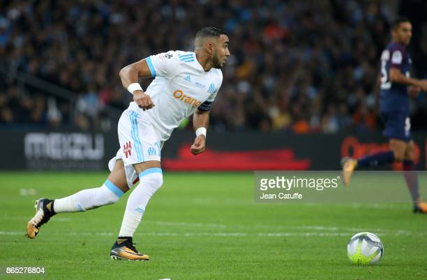 Dimitri Payet of OM during the French Ligue 1 match between Olympique de Marseille and Paris Saint Germain at Stade Velodrome on October 22 2017 in...