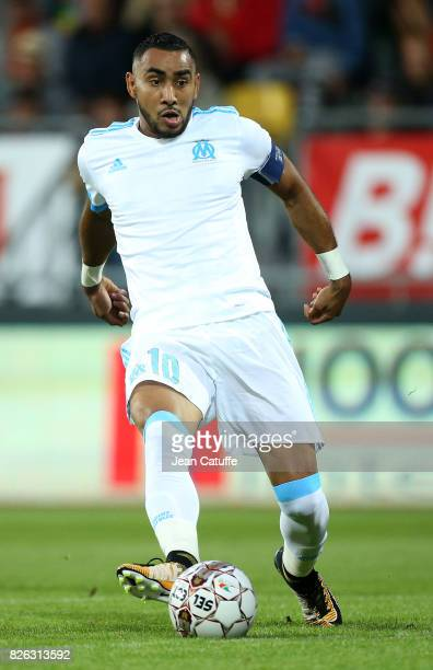 Dimitri Payet of OM during the UEFA Europa League third qualifying round second leg match between KV Oostende and Olympique de Marseille at Versluys...