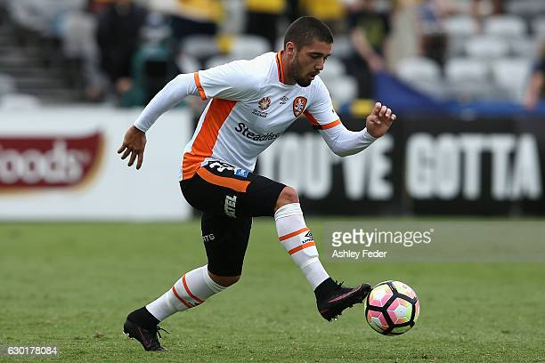 Dimitri Petratos of Brisbane Roar controls the ball during the round 11 ALeague match between the Central Coast Mariners and Brisbane Roar at Central...