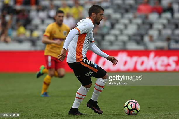 Dimitri Petratos of Brisbane Roar in action during the round 11 ALeague match between the Central Coast Mariners and Brisbane Roar at Central Coast...
