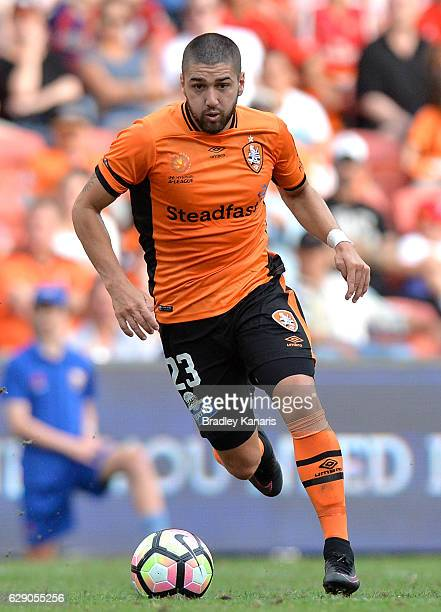 Dimitri Petratos of the Roar in action during the round 10 ALeague match between the Brisbane Roar and Adelaide United at Suncorp Stadium on December...