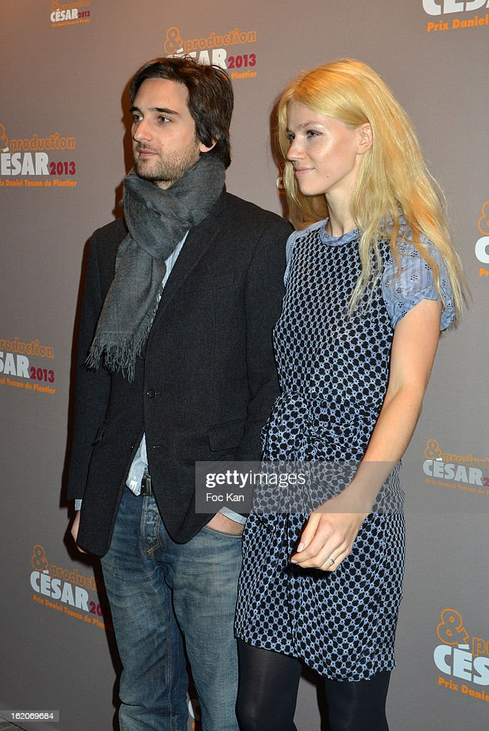 Dimitri Rassam and a guest attend the Producer's Dinner - Cesar Film Awards 2013 at Georges V on February 18, 2013 in Paris, France.