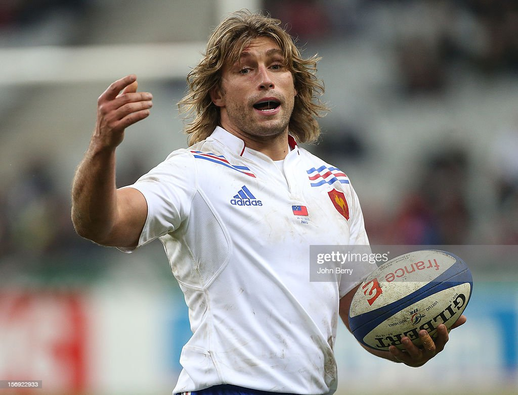 Dimitri Szarzewski of France in action during the Rugby Autumn International between France and Samoa at the Stade de France on November 24, 2012 in Paris, France.