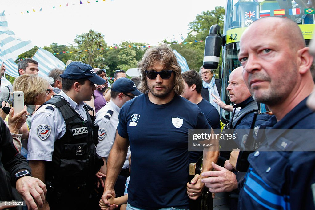 Dimitri Szarzewski of Racing 92 during the presentation Trophy Top 14 - Racing92 at Mairie de Plessis Robinson on June 28, 2016 in Plessis Robinson, France.