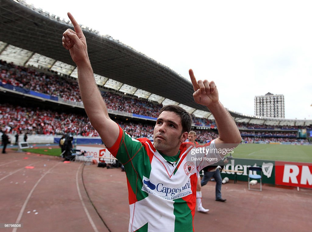 Dimitri Yachvili of Biarritz celebrates after victory during the Heineken Cup semi final match between Biarritz Olympique and Munster at Estadio...