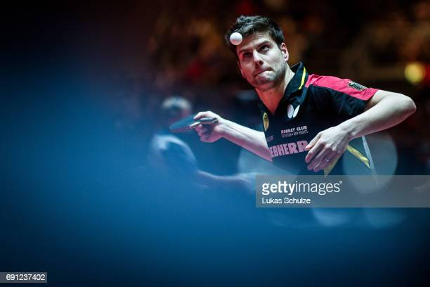 Dimitrij Ovtcharov of Germany competes at Table Tennis World Championship at Messe Duesseldorf on June 01 2017 in Dusseldorf Germany