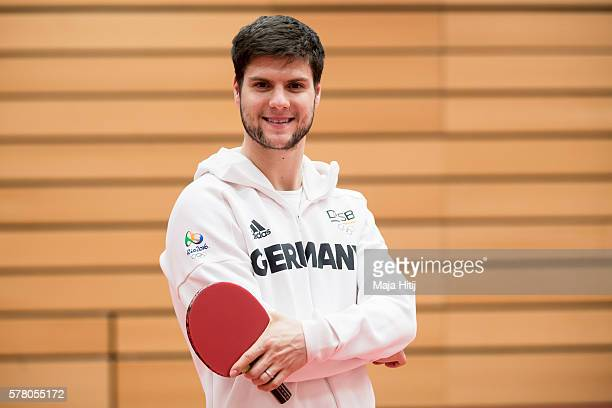 Dimitrij Ovtcharov poses for a portrait on July 20 2016 at German Table Tennis Centre in Duesseldorf Germany