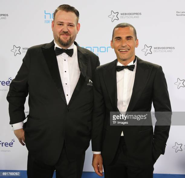 Dimitrios Argirakos and Markus Huendgen attends the Webvideopreis Deutschland 2017 at ISS Dome on June 1 2017 in Duesseldorf Germany