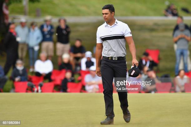 Dimitrios Papadatos of Australia looks on during day three of the New Zealand Open at Millbrook Resort on March 11 2017 in Queenstown New Zealand