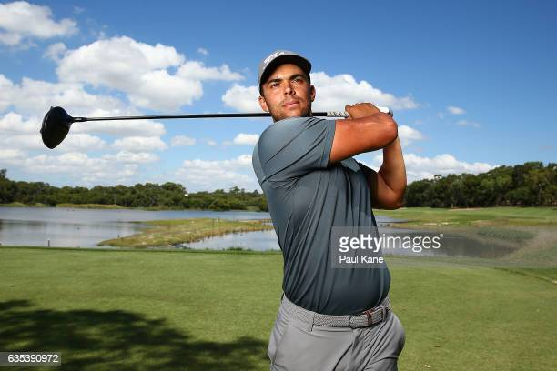 Dimitrios Papadatos of Australia poses during previews ahead of the ISPS HANDA World Super 6 Perth at Lake Karrinyup Country Club on February 15 2017...