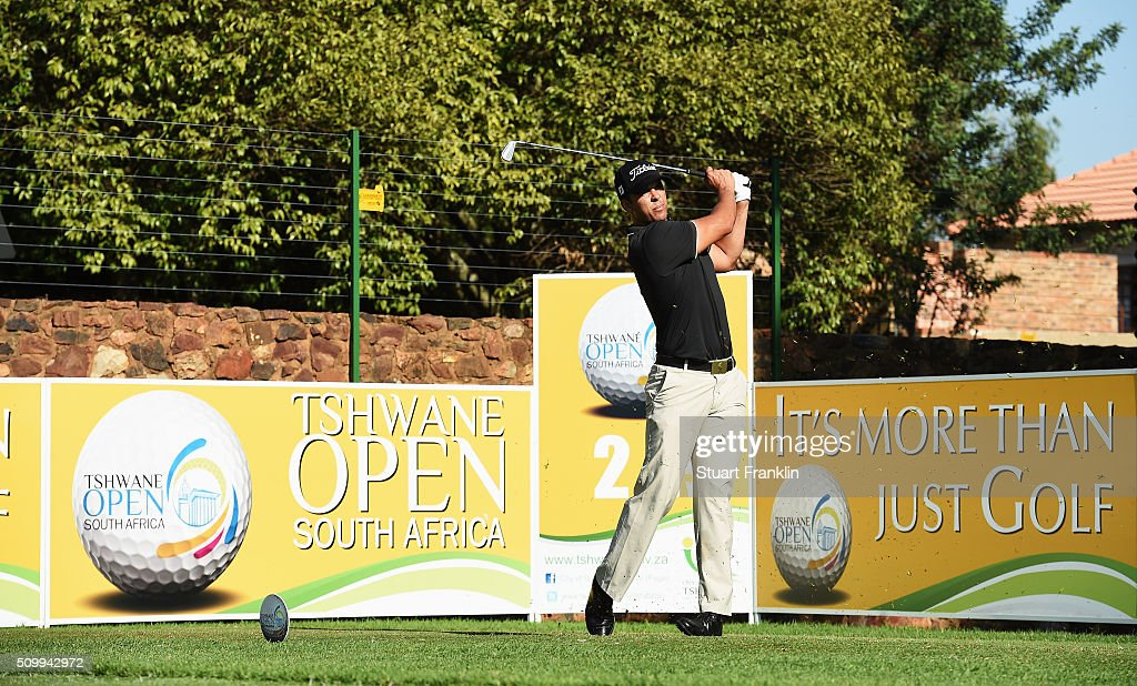 Dimitrios Papadatos of Austrlia plays a shot during the third round of the Tshwane Open at Pretoria Country Club on February 13, 2016 in Pretoria, South Africa.