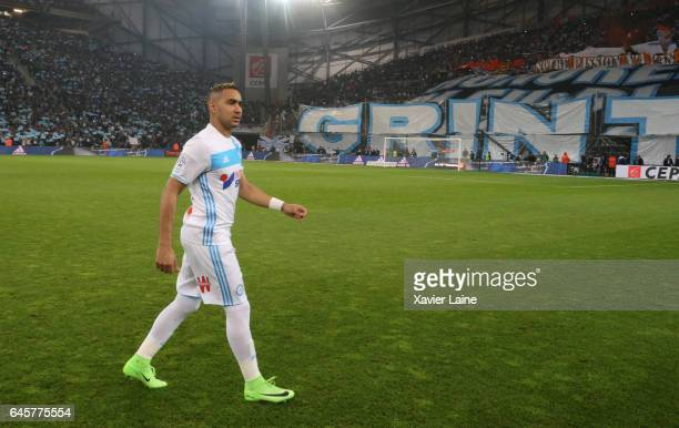 Dimitry Payet of Marseille reacts during the French Ligue 1 match Olympique de Marseille and Paris Saint Germain at Orange Stade Velodrome on...