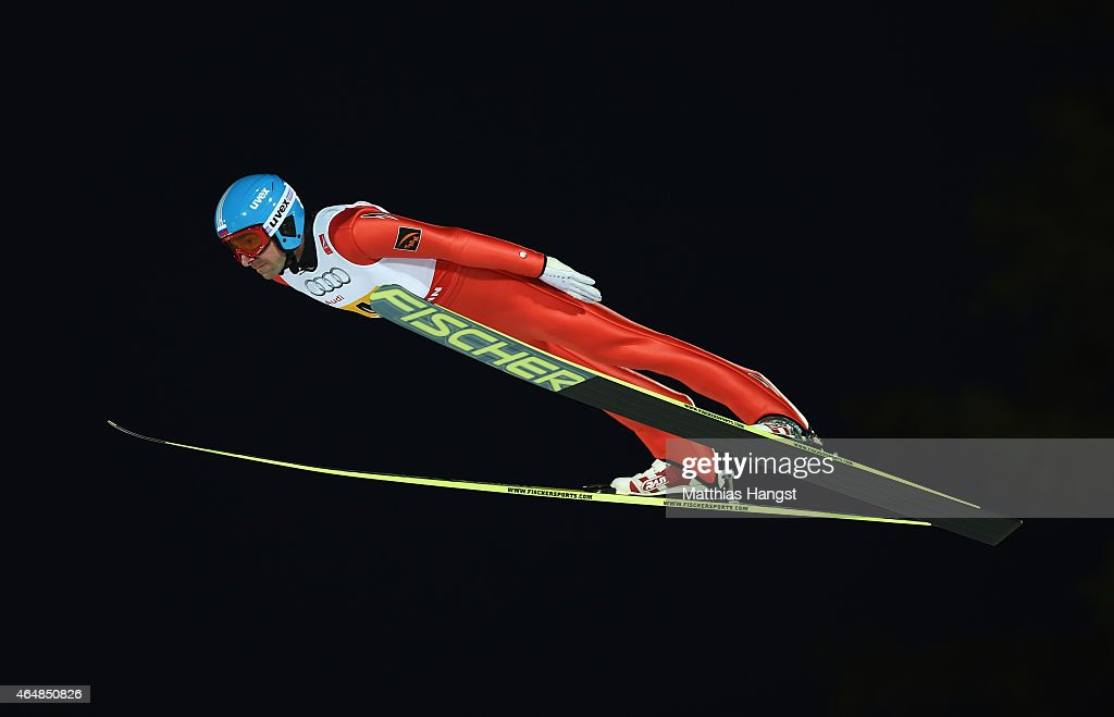 <a gi-track='captionPersonalityLinkClicked' href=/galleries/search?phrase=Dimitry+Vassiliev&family=editorial&specificpeople=4125842 ng-click='$event.stopPropagation()'>Dimitry Vassiliev</a> of Russia competes during the Men's Team HS134 Large Hill Ski Jumping during the FIS Nordic World Ski Championships at the Lugnet venue on February 28, 2015 in Falun, Sweden.