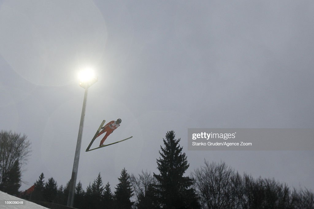 Dimitry Vassiliev of Russia during the FIS Ski Jumping World Cup Vierschanzentournee (Four Hills Tournament) on January 06, 2013 in Bischofshofen, Austria.