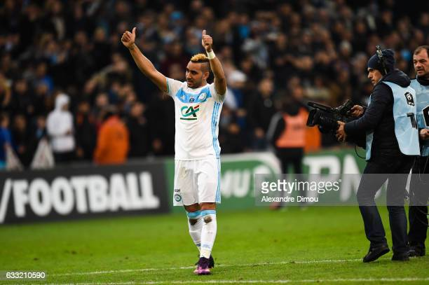Dimtri Payet of Marseille celebrates the Victory during the french national cup match between Olympique de Marseille v Olympique Lyonnais Lyon Round...