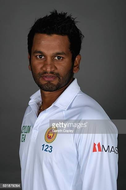 Dimuth Karunaratne of Sri Lanka poses for a portrait at Headingley on May 17 2016 in Leeds England