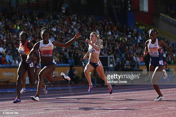 Dina AsherSmith of Blackheath and Bromley wins the Women's 100m final during day three of the Sainsbury's British Championships at Birmingham...