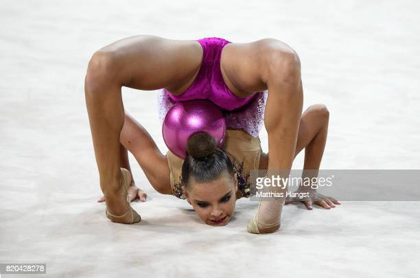 Dina Averina of Russia competes during the Rhythmic Gymnastics Women's Individual Ball Qualification of The World Games at Centennial Hall on July 21...