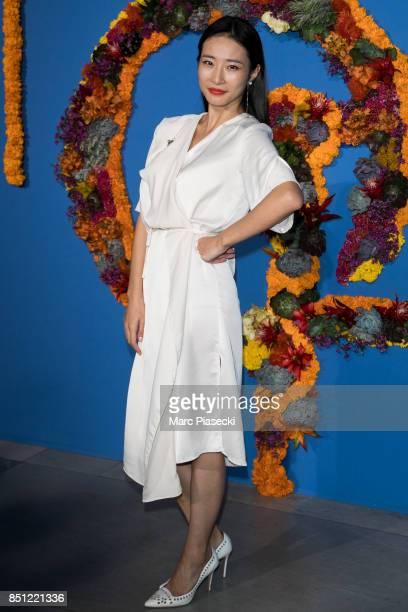 Dina Ding attends the Opening Season Gala at Opera Garnier on September 21 2017 in Paris France