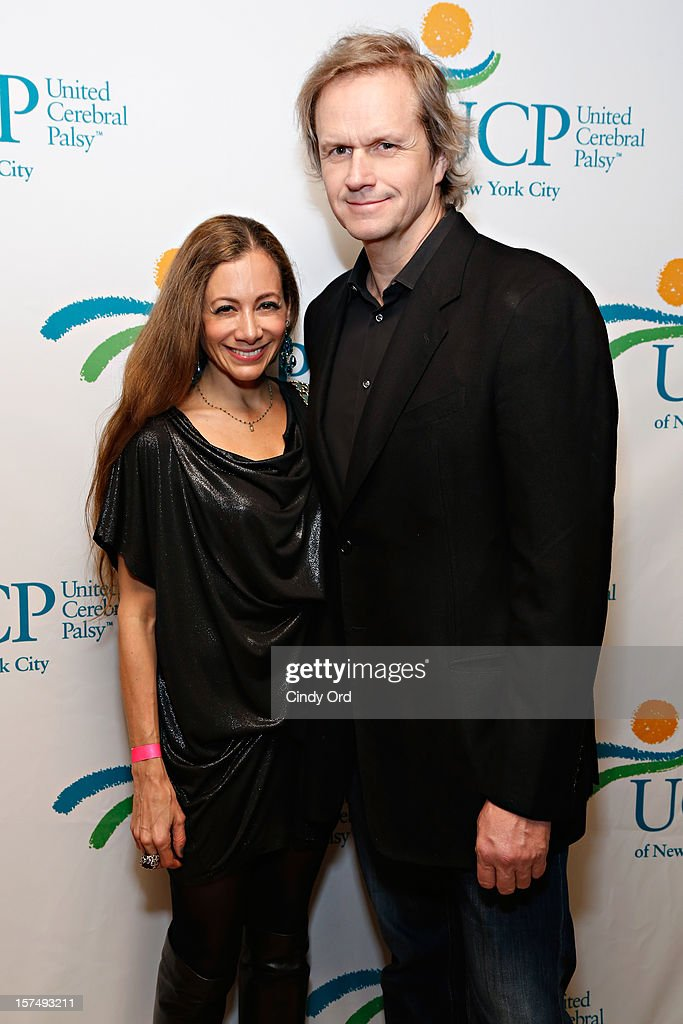 Dina Fanai and Robert Kinkel attend the Santa Project Party benefiting United Cerebral Palsy Of New York City at Bar Baresco on December 3, 2012 in New York City.