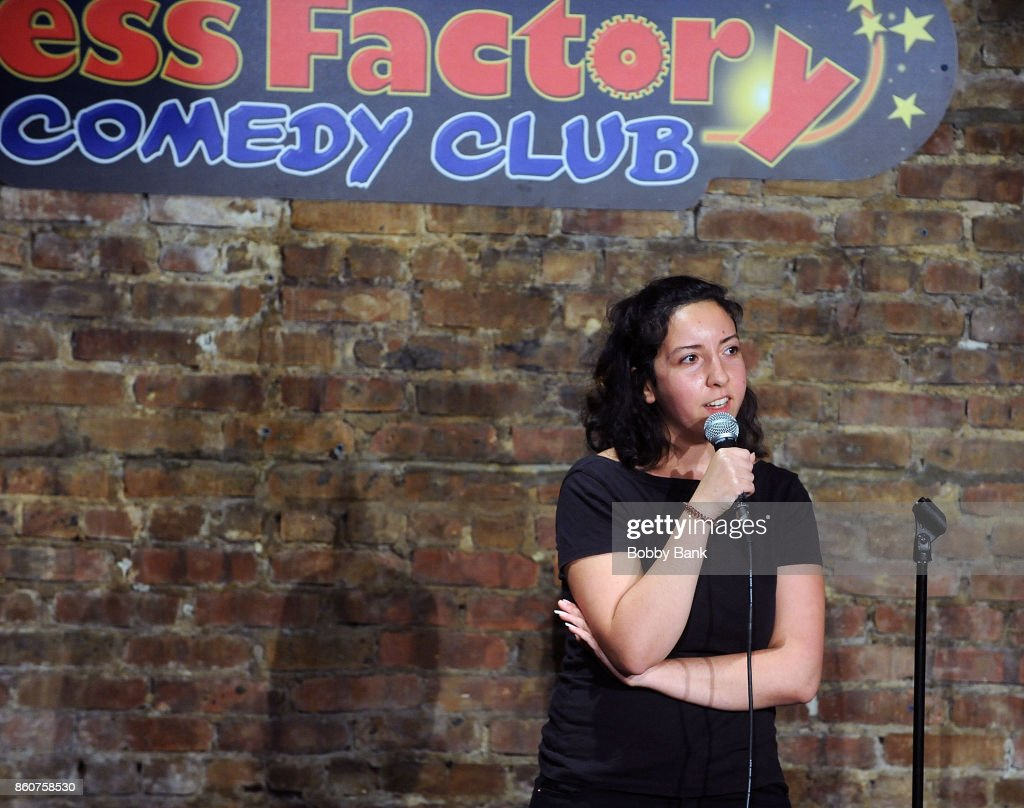 Dina Hashem performs at The Stress Factory Comedy Club on October 12, 2017 in New Brunswick, New Jersey.