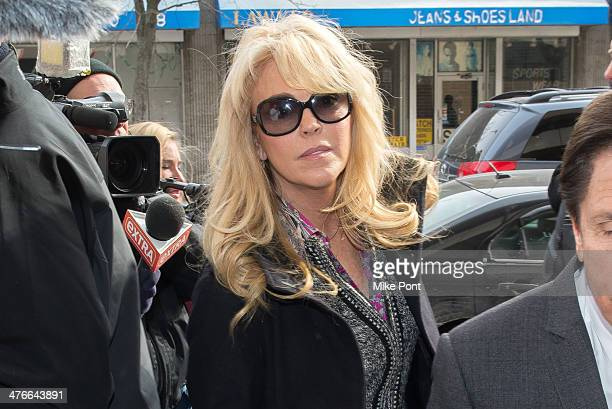 Dina Lohan appears at court for a hearing at Nassau County First District Court on March 4 2014 in Hempstead New York Lohan was arrest on September...