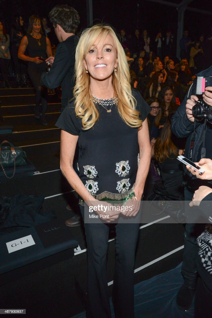 <a gi-track='captionPersonalityLinkClicked' href=/galleries/search?phrase=Dina+Lohan&family=editorial&specificpeople=594100 ng-click='$event.stopPropagation()'>Dina Lohan</a> attends Fall 2014 Mercedes - Benz Fashion Week on February 7, 2014 in New York City.