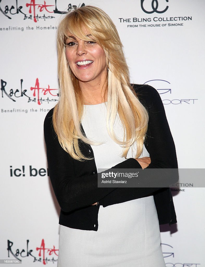 Dina Lohan attends ROCK ART LOVE at The Angel Orensanz Foundation on March 12, 2013 in New York City.