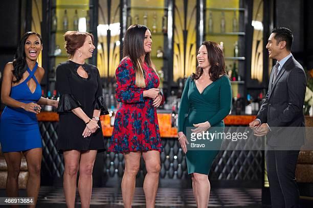 MATCHMAKER 'Dina Lohan Peter Marc Jacobson' Episode 815 Pictured Candace Smith Jill Zarin Patti Stanger Fran Drescher David Cruz
