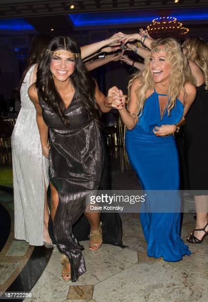 Dina Manzo and Teresa Giudice attends the 'Goddess Night Out' event benefiting Project Lady Bug hosted by Dina Manzo on November 11 2013 in Garfield...