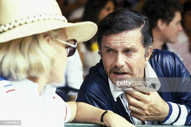 Dina Merrill and Cliff Robertson during RFK ProCeleb Tennis Tournament at Forest Hills in Forest Hills New York United States