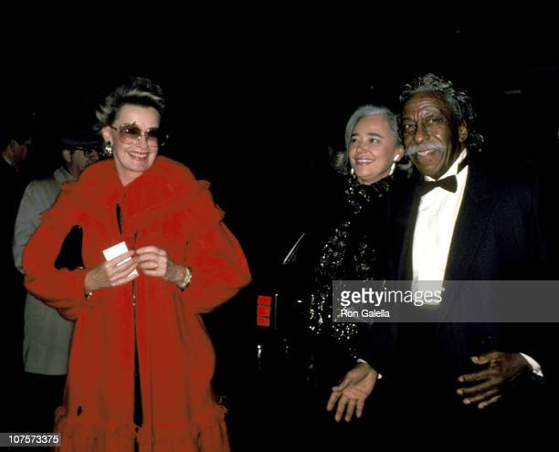 Dina Merrill and Gordon Parks during 'The Color Purple' New York Premiere at Cinema 1 Theater in New York City New York United States