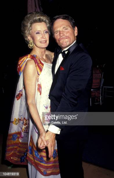 Dina Merrill and Ted Hartley during Forbes Magazine's 70th Anniversary Celebration at Timberland Estate in Far Hills New Jersey United States