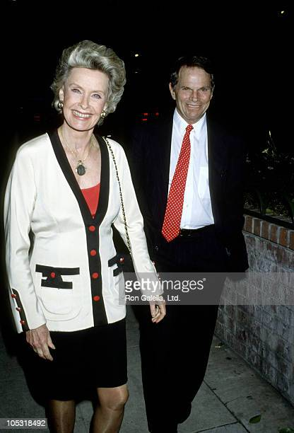 Dina Merrill and Ted Hartley during Post Opening Night Party for 'Jake's Women' at Columbia Bar Grill in Hollywood California United States