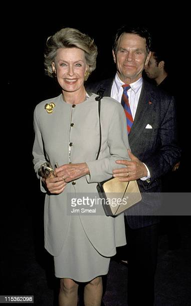 Dina Merrill and Ted Hartley during 'The Player' Los Angeles Premiere at The Director's Guild in Hollywood California United States