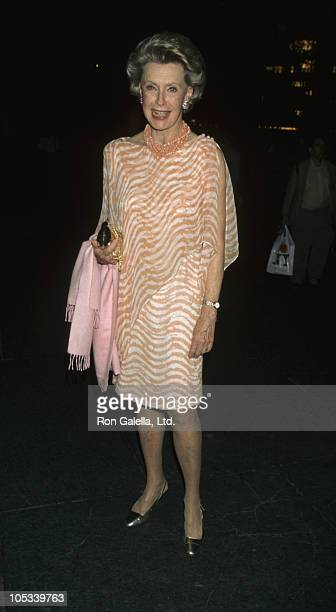 Dina Merrill during 35th New York Film Festival 'The Ice Storm' New York Premiere at Avery Fisher Hall in New York City New York United States