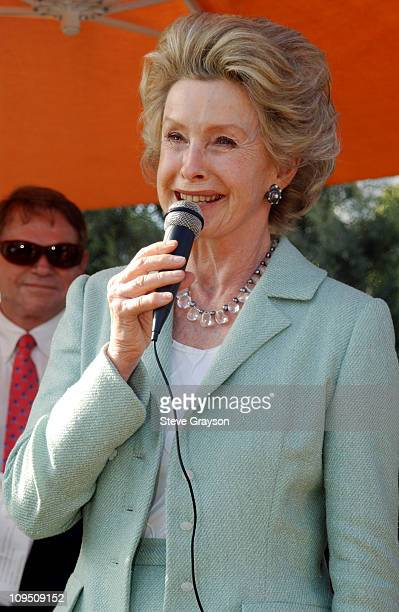 Dina Merrill during Cannes 2002 HartleyMerrill International Screenwriting Prize at Nestle Plaza in Cannes France