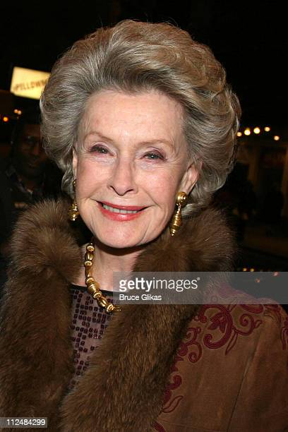 Dina Merrill during 'Dirty Rotten Scoundrels' Broadway Opening Night at The Imperial Theater in New York City New York United States